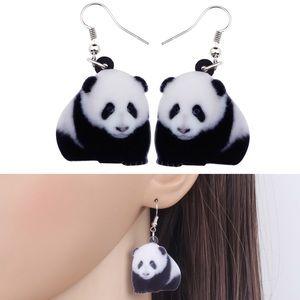 Panda Bear Acrylic Earrings